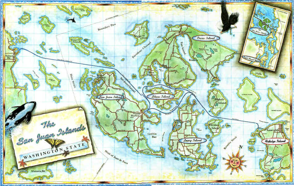 Maps for Fishing san juan islands